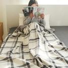 【04528】法蘭絨雙面毛毯 保暖毯 沙發毯 懶人毯