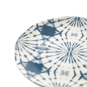 渲染藍韻平盤16cm 蒲公英