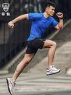 健身套裝男夏季跑步運動套裝健身房短袖短褲 寬鬆速干籃球訓練服裝  快速出貨