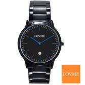 LOVME 極簡超薄藍針黑鋼錶×42mm 錶面日期顯示VS1727M 33 3L1  名人