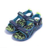 LOTTO 磁扣運動涼鞋 藍 LT6AKS3206 大童