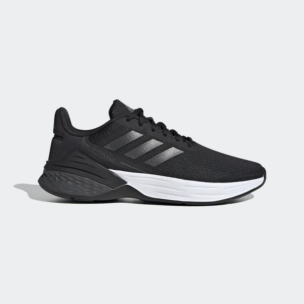 Adidas Response Sr [FX3642] 女鞋 運動 休閒 慢跑 透氣 舒適 支撐 避震 愛迪達 黑 白