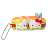Hello Kitty紓壓玩具 麵包漢堡造型擠壓玩偶吊飾/紓壓玩具/紓壓小物 [喜愛屋]