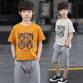 童裝男童夏裝2019新款套裝韓版帥氣中大童兒童夏季短袖男孩兩件套