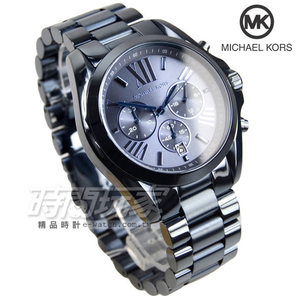 Michael Kors 義式情懷漫步羅馬三眼計時腕錶 藍色 男錶 MK6248
