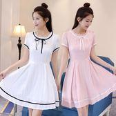 白色洋裝—夏裝新款14初中學生連身裙12歲女大童15韓版13少女孩16夏裙子 korea時尚記
