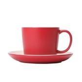 La Cafetiere簡約咖啡杯盤組 紅