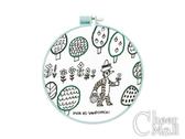 彩色刺繡框材料包(森林小徑)15cm