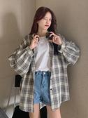 外套女裝春秋季冬格子襯衫百搭韓版寬鬆薄款外穿長袖上衣服潮 【99免運】