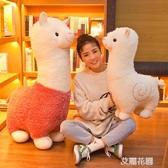 大號可愛毛絨玩具羊駝公仔睡覺抱枕日本布娃娃女孩生日禮物QM『艾麗花園』