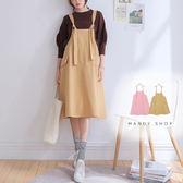 【MK0318】大口袋挺版吊帶裙