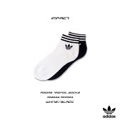 IMPACT Adidas Trefoil Socks 黑白 運動 中筒襪 短襪 踝襪 三葉草 三線 三雙一組 AZ6288 AZ5523