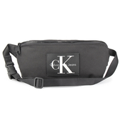 Calvin Klein 經典帆布LOGO斜背包(黑色)103340
