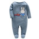 長袖連身 Eric Carle 艾瑞卡爾 Miffy米飛兔長袖包腳連身衣 / 哈衣 (涼感竹纖維) - 藍色 M1B DP S100
