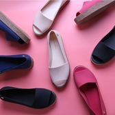涼鞋女夏 中跟 果凍鞋魚嘴涼鞋羅馬鞋厚底鬆糕跟女涼鞋平底