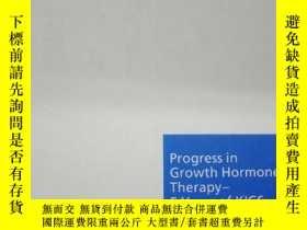 二手書博民逛書店Progress罕見in Growth Hormone Ther