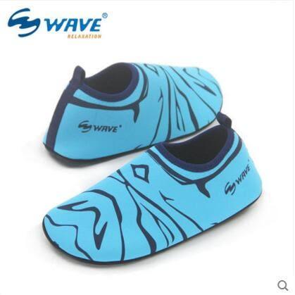 浮潛沙灘鞋男女輕便運動情侶潛水鞋襪【粉藍色】