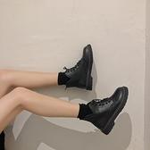 短靴 網紅瘦瘦增高ins潮鞋馬丁靴女加絨刷毛新款百搭英倫風短靴秋冬季