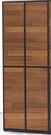 【森可家居】歐吉爾2x6尺雙色四門鞋櫃(共8層)7JF296-1 木紋質感 北歐工業風 高收納櫃