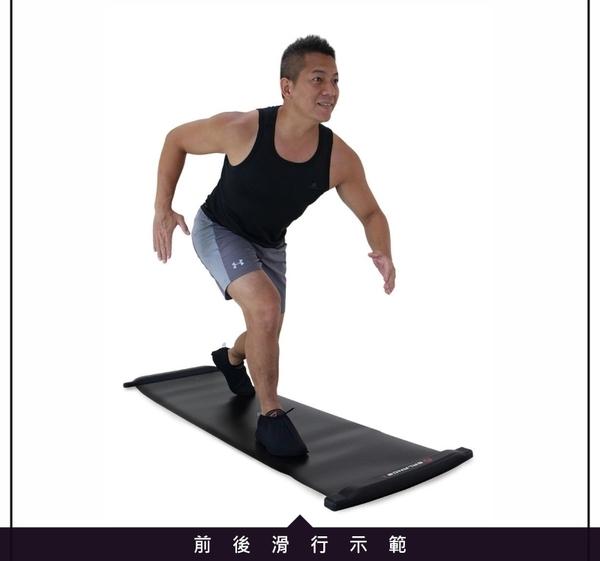 【BALANCE 1】橫向核心肌群訓練 滑步器 豪華版230cm(SLIDING BOARD EX 230cm)-藍