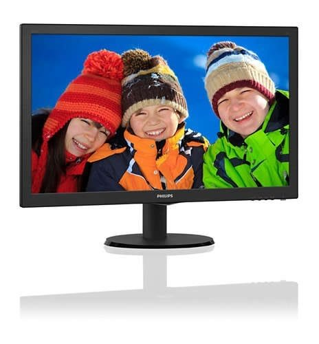 PHILIPS 243V5QHSBA 23.6吋(16:9 黑色) MVA液晶顯示器【刷卡含稅價】