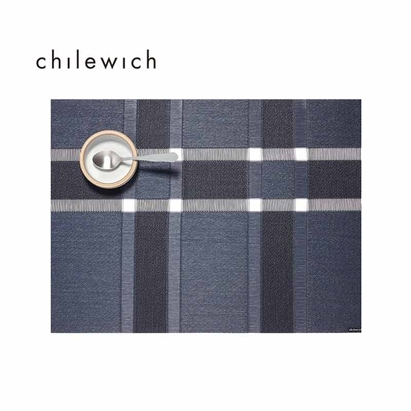 美國Chilewich-Interlace Rectangle簍空格紋系列餐墊-36X48CM-深藍