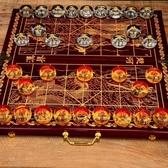 象棋水晶立體象棋套裝大號成人透明中國象棋棋盤折疊創意禮物商務禮品