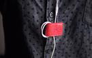 【創意小物】多功能皮革磁鐵夾 Smart Holder - 珊瑚紅 Red 鈔票夾、磁鐵鑰匙圈、集線器、書籤