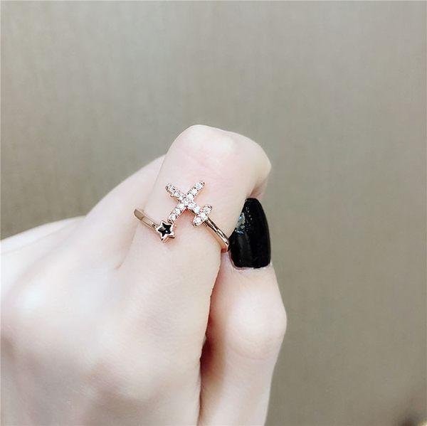 戒指 個性 飛機 星星 設計 清新 開口 戒指【DD1811065】 BOBI  01/24