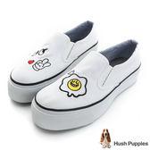 Hush Puppies 早安smile厚底懶人鞋-白