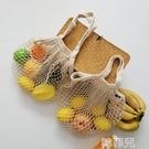 草編包 歐美風購物袋水果網兜手提單肩包鏤空編織袋便攜超市環保袋沙灘包 韓菲兒