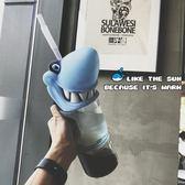 大容量鯊魚塑料水瓶潮牌吸管成人飲料水壺杯子『櫻花小屋』