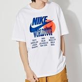 Nike AS M NSW Tee World Tour 男 白 城市系列 運動 休閒 短袖 DA0938-100