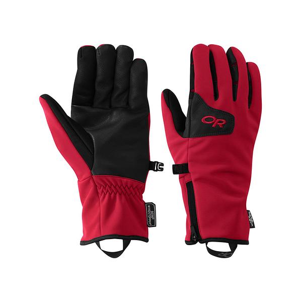 OR Stormtracker Sensor Gloves Windstopper 可觸控防風防潑水保暖手套 紅