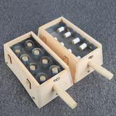 實木製加高8柱八孔艾灸盒宮寒婦科實木質腰腹背部溫灸器家用全身  電購3C