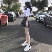 a字裙學院格子百褶裙短裙港味高腰半身裙春夏季女2019新款裙子潮  韓語空間