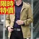 風衣外套-新品熱銷新款長版男大衣3色59...