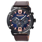 POLICE  神秘頻率時尚腕錶-15047JSB-03