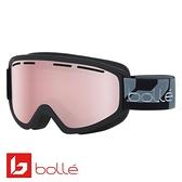 法國 Bolle SCHUSS 雙層鏡片設計 防霧雪鏡 霧黑/朱紅金 #21811