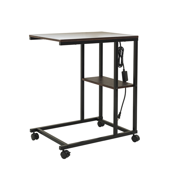 床邊桌/電腦桌/書桌 愛麗絲懶人床邊桌(插座款) 兩色可選 dayneeds