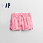 Gap女童 活力亮色鬆緊休閒短褲 954386-粉色