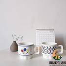 復古法式郁金香陶瓷馬克杯咖啡杯早餐杯燕麥杯可疊放【創世紀生活館】