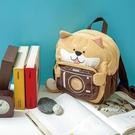 拍拍樂萌柴犬孩童後背包/手提包/拼布包包
