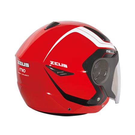 【東門城】ZEUS ZS612A AD4 (紅白) 半罩式安全帽 雙鏡片