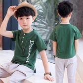 男童短袖T恤圓領兒童中大童韓版夏裝季新款童裝潮款白色小童 baby嚴選