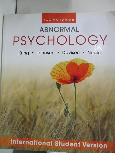 【書寶二手書T1/心理_DSB】Abnormal Psychology Twelfth Edition International…