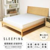 床墊 聯結式 彈簧床墊 冬夏兩用2.3線徑彈力QQ床-雙人加大6尺【H&D DESIGN 】