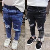 (百貨週年慶)男童牛仔褲1-2-3-4歲5-6寶寶褲子春秋兒童刷破薄款潮童裝