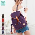 後背包 獨家牛津皮革 經典束口前側隱藏袋款 女包 89.Alley-HB89204