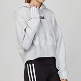 Adidas Originals 女款 灰色 短版 休閒 連帽 長袖 上衣 EJ8538